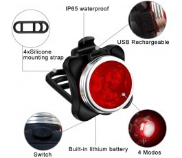 Luci Bicicletta LED Light con Caricabatterie 400LM